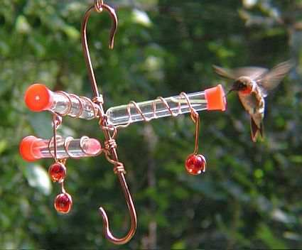 Whimsy Three Station Hummingbird Feeder