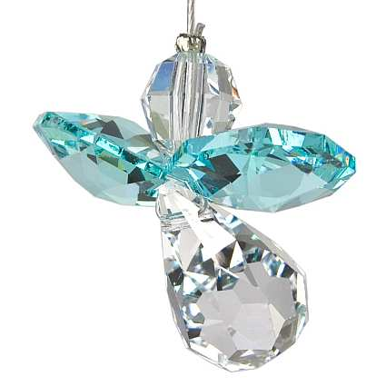 Crystal Guardian Angel Suncatcher Blue Zircon