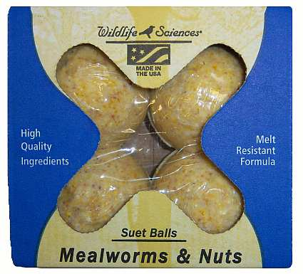 Suet Balls Mealworms and Nuts 24/Pack