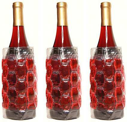 Cool Sack Wine Bottle Wrap Red Set of 3