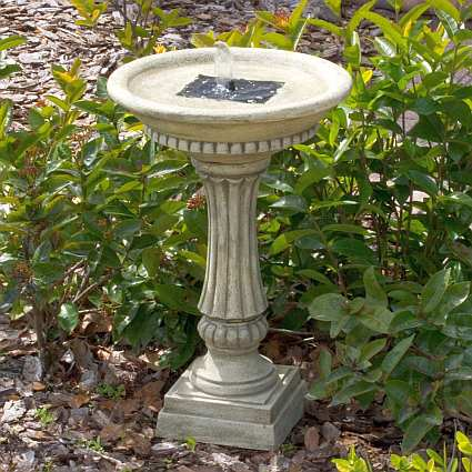 Solar Bird Baths And Fountains Solar Powered Birdbaths
