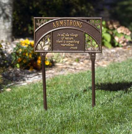 Personalized garden plaques decorative custom handcrafted for Outdoor decorative signs