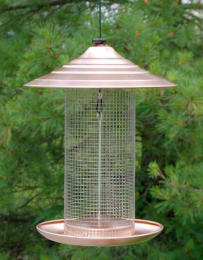 Audubon Coppertop Sunflower Bird Feeder Quality Brushed