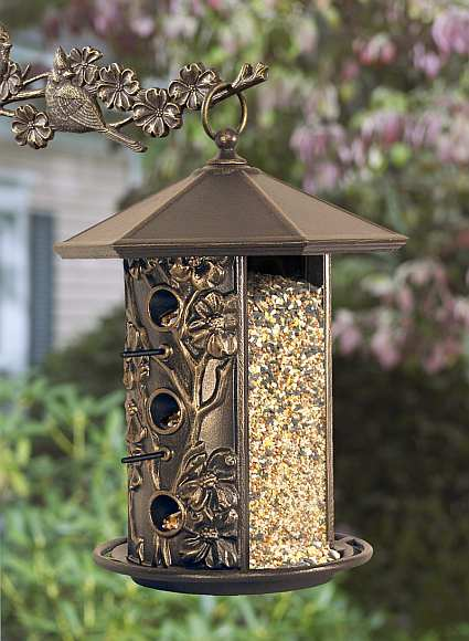 Whitehall garden design dogwood bird feeder decorative - Bird feeder garden designs ...