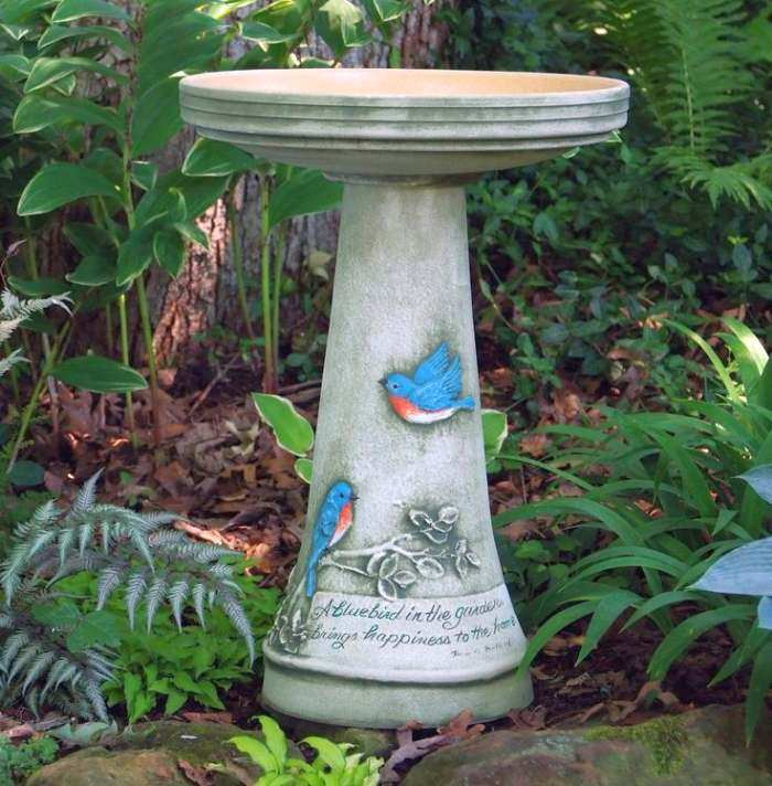 Ceramic Bird Baths Stoneware