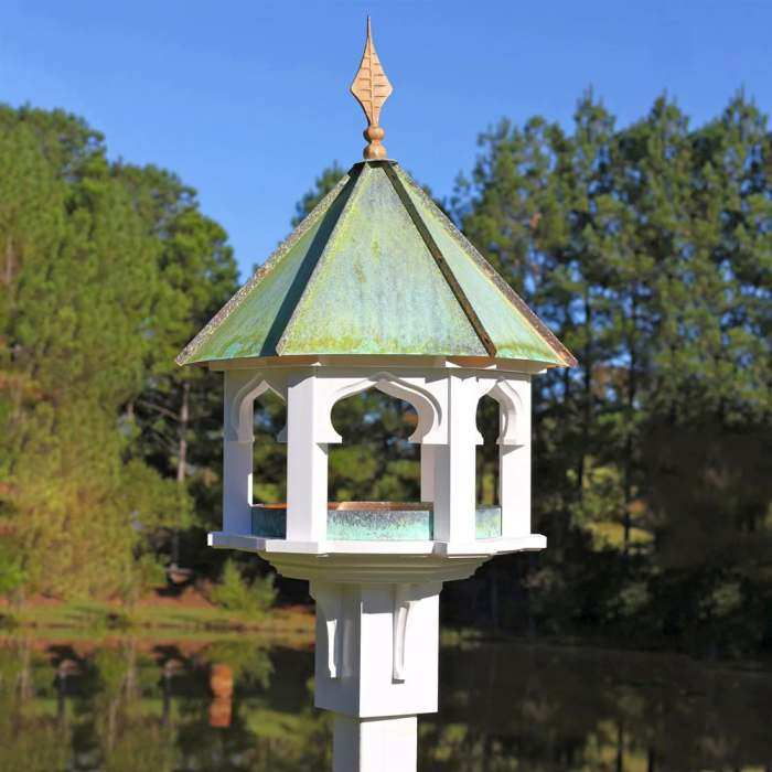 metal feeders asian feeder finish glass bird p style copper htm gazebo and bamboo wild w