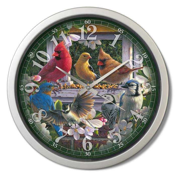 Wall clocks audubon singing wall clocks john deere tractor wall wall clocks audubon singing wall clocks john deere tractor wall clocks nature outdoor themed wall clocks at songbird garden amipublicfo Images