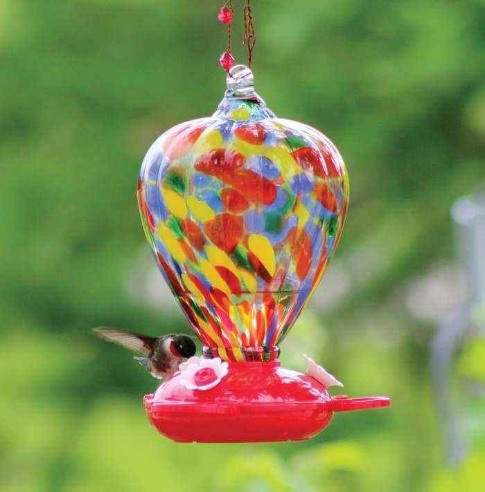 Blown Glass Hummingbird Feeders   Quality Blown Glass Hummingbird Feeders  For Feeding Hummingbirds At Songbird Garden