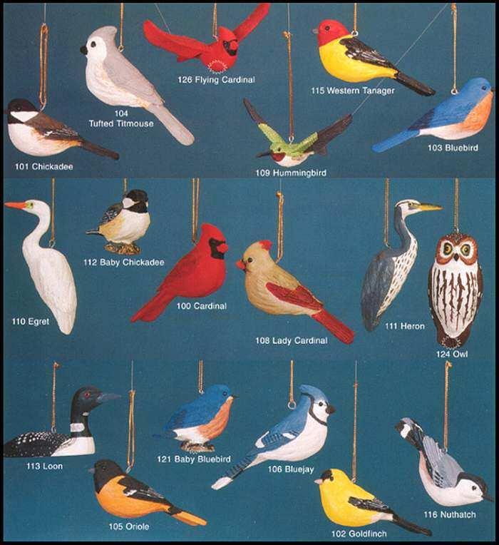 fisher wildlife bird ornaments hanging bird ornaments lifelike bird ornaments for holiday or year round decorations at songbird garden - Bird Christmas Ornaments