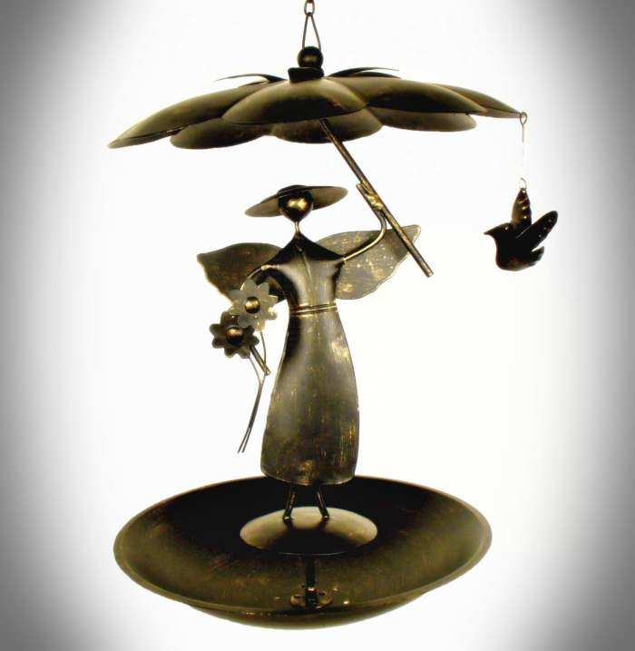 Gift Essentials Glass Raindrops Handcrafted Metal and Glass Balinese Mobile