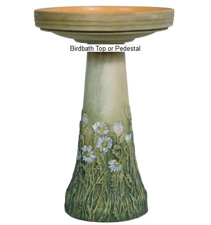 Ceramic Bird Baths Stoneware Clay Decorative And Functional Handcrafted Birdbaths At Songbird Garden