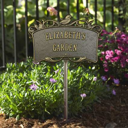 Personalized Garden Plaques Decorative Custom Handcrafted