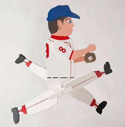 Baseball Player Whirligig Kit
