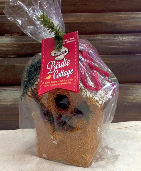 Holiday Bird Cottage Treat Edible Birdhouses Set of 3