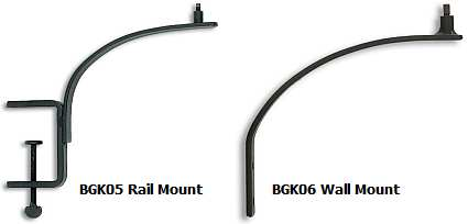 Birdbath Deck Rail Mount and Wall Mount Brackets
