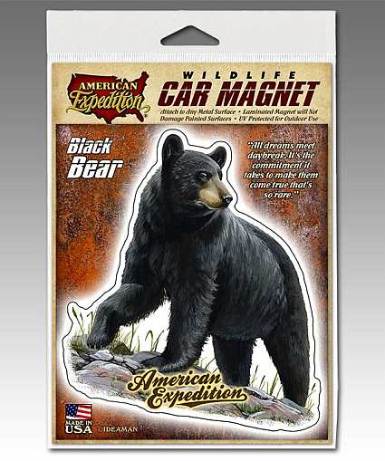 American Expedition Black Bear Car Magnet