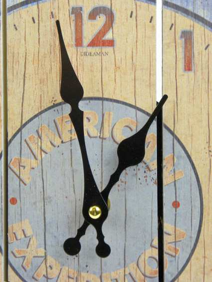 American Expedition Wooden Cabin Sign Clock