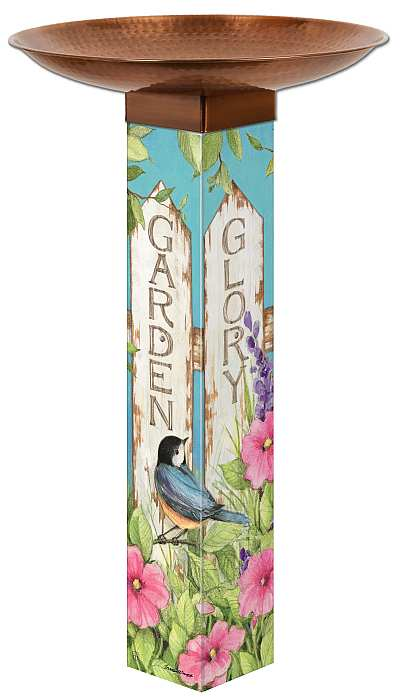 Garden Glory Art Pole Bird Bath 5x5