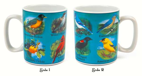 North American Songbirds Musical Mug