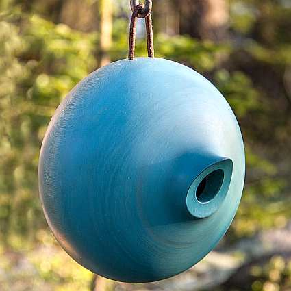 Mango Tree Collection Ellipse Bird Home Blue
