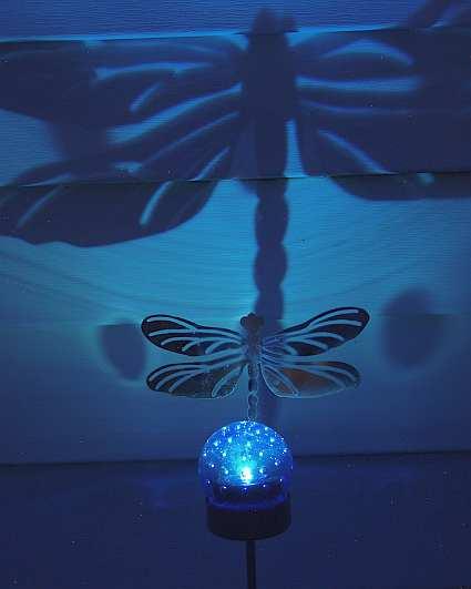 Dragonfly Solar Shadow Stake Set Of 4 Solar Powered Glow
