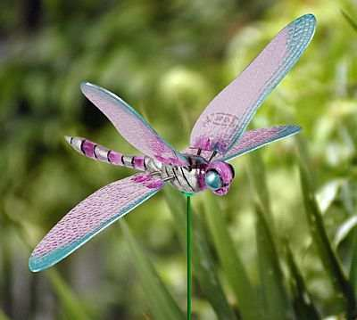 Windy Wings 7 Inch Dragonfly Garden Stake Assortment Set of 24