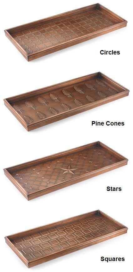Good Directions MultiPurpose Boot Tray Venetian Bronze Decorative Classy Decorative Boot Tray