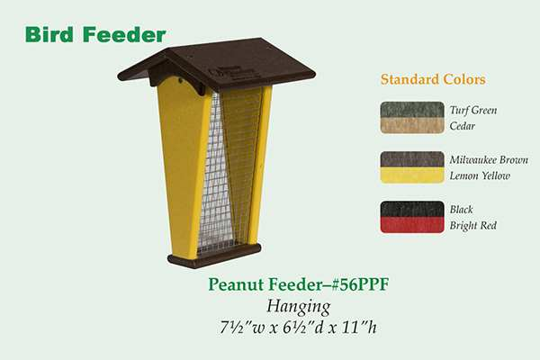 Amish Recycled Poly Peanut Feeder