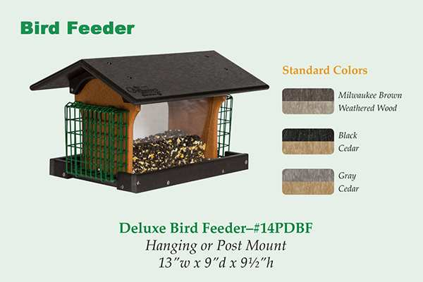 Amish Recycled Poly Deluxe Hopper Feeder Colors
