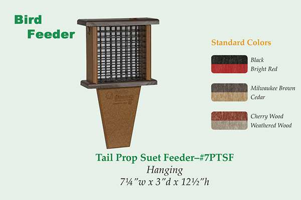 Amish Recycled Poly Tail Prop Suet Feeder
