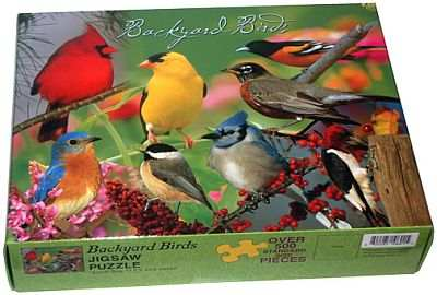 Backyard Birds 500 Piece Jigsaw Puzzle
