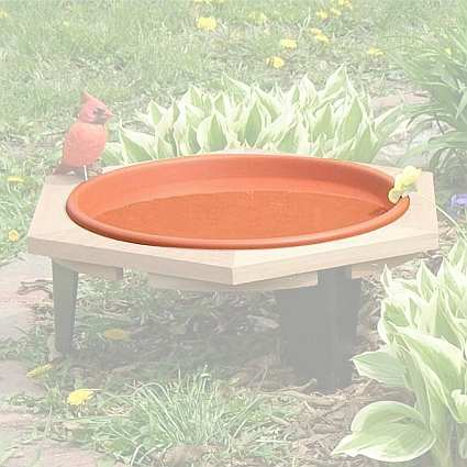 "Classic 17"" Replacement Bird Bath Pan"