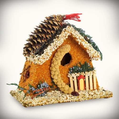 Birdie's Bed and Breakfast Chalet Edible Birdhouse