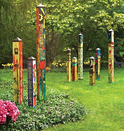 Painted Peace Art Pole Gardens Collection