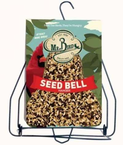 Mr. Bird Seed Bell Holder