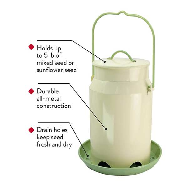 Milk Pail Bird Feeder