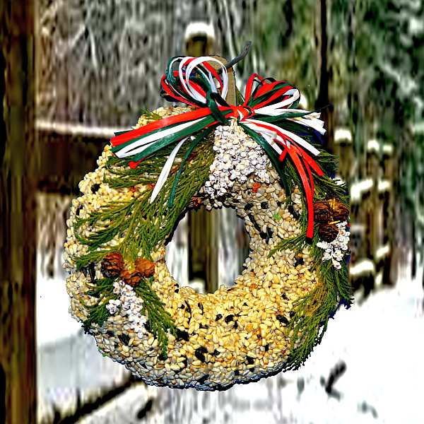 Bundt Winter Medley Edible Wreath w/Bow