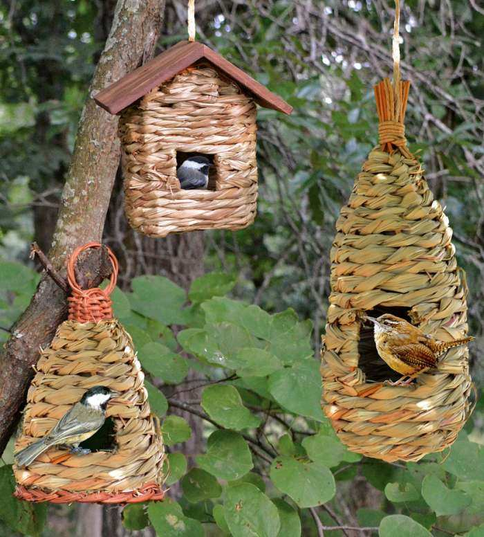 Hanging Grass Roosting Pocket Collection Set of 3