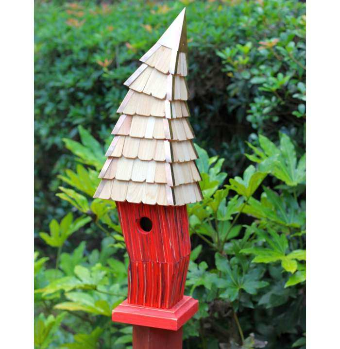 Birdiwampus Bird House Red