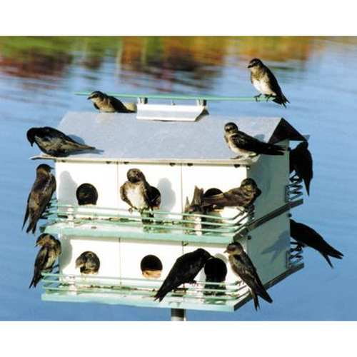 Nature House Purple Martin 12-Room with 14' Pole