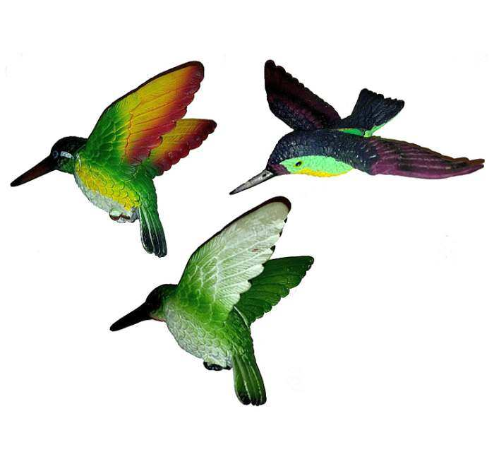 Hummingbird Trio Fly-Through Window Magnets 3/PAK