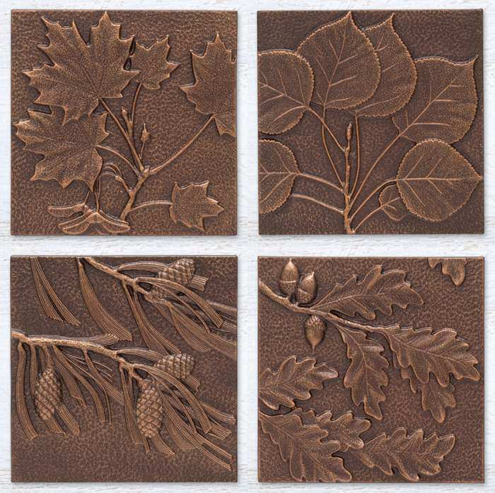 Indoor Outdoor Wall Decor Leaves Set of 4