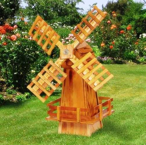 Amish Made Wooden Windmill Small 30