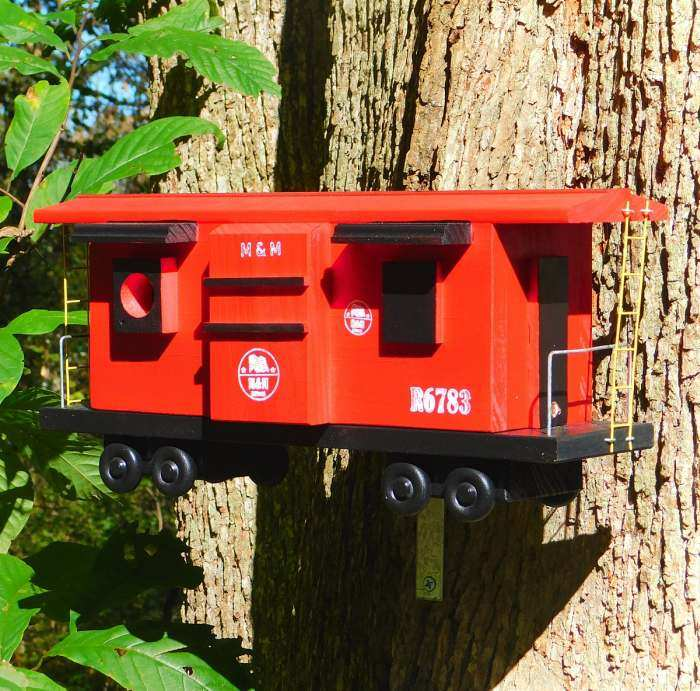 Red Caboose Bird House