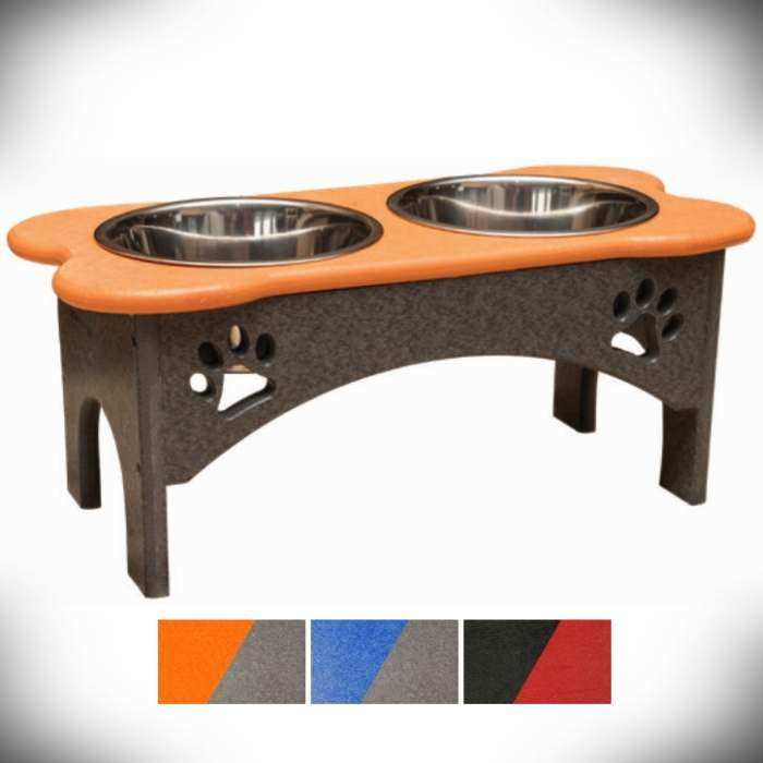 Amish Recycled Poly Elevated Pet Tray 7