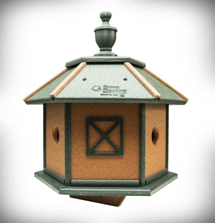 Amish Recycled Poly 3-Room Gazebo Bird House