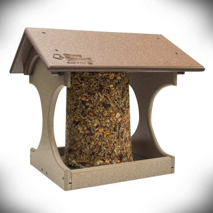Amish Recycled Poly Suet Log Feeder