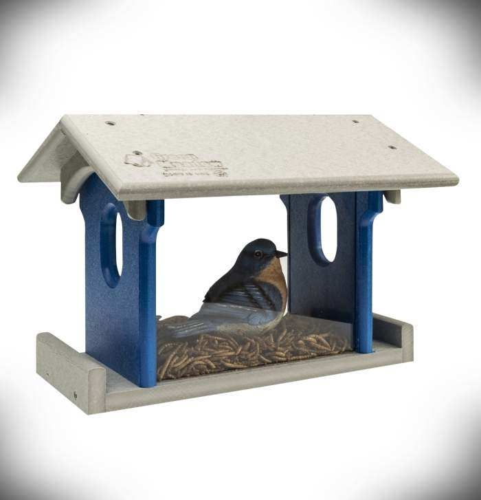Amish Recycled Poly Bluebird Feeder Small