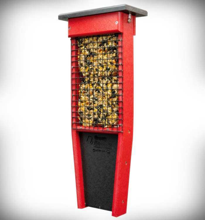 Amish Recycled Poly Pileated Double Suet Feeder