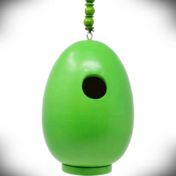 For The Birds Egg Bird House Green